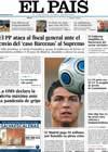 Portada diario EL PAIS del 12 de Junio de 2009