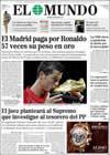 Portada diario El Mundo del 12 de Junio de 2009