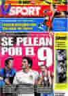 Portada diario Sport del 15 de Junio de 2009