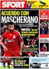 Portada diario Sport del 18 de Junio de 2009