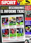Portada diario Sport del 20 de Junio de 2009
