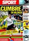 Portada diario Sport del 26 de Junio de 2009