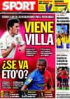 Portada diario Sport del 29 de Junio de 2009