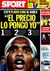 Portada diario Sport del 30 de Junio de 2009