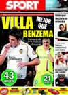 Portada diario Sport del 4 de Julio de 2009