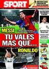 Portada diario Sport del 7 de Julio de 2009