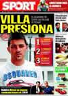 Portada diario Sport del 8 de Julio de 2009