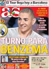 Portada diario AS del 9 de Julio de 2009