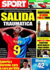 Portada diario Sport del 10 de Julio de 2009