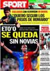 Portada diario Sport del 12 de Julio de 2009