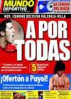 Portada Mundo Deportivo del 13 de Julio de 2009
