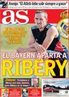 Portada diario AS del 14 de Julio de 2009
