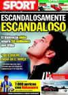 Portada diario Sport del 14 de Julio de 2009