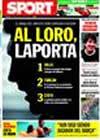 Portada diario Sport del 15 de Julio de 2009