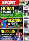 Portada diario Sport del 16 de Julio de 2009