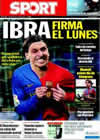 Portada diario Sport del 18 de Julio de 2009