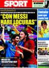 Portada diario Sport del 20 de Julio de 2009