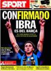 Portada diario Sport del 23 de Julio de 2009