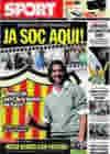 Portada diario Sport del 27 de Julio de 2009