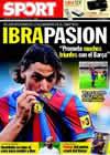Portada diario Sport del 28 de Julio de 2009
