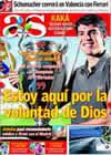 Portada diario AS del 30 de Julio de 2009