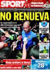 Portada diario Sport del 31 de Julio de 2009