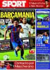 Portada diario Sport del 3 de Agosto de 2009