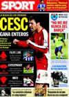 Portada diario Sport del 8 de Agosto de 2009