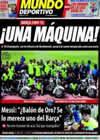 Portada Mundo Deportivo del 8 de Agosto de 2009