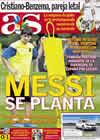 Portada diario AS del 14 de Agosto de 2009