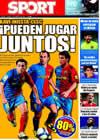 Portada diario Sport del 14 de Agosto de 2009