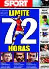 Portada diario Sport del 15 de Agosto de 2009