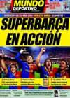 Portada Mundo Deportivo del 16 de Agosto de 2009