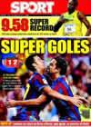 Portada diario Sport del 17 de Agosto de 2009