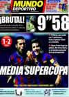Portada Mundo Deportivo del 17 de Agosto de 2009