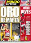 Portada Mundo Deportivo del 18 de Agosto de 2009