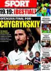 Portada diario Sport del 21 de Agosto de 2009