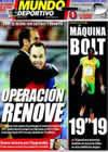 Portada Mundo Deportivo del 21 de Agosto de 2009