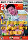Portada diario AS del 22 de Agosto de 2009