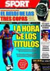 Portada diario Sport del 23 de Agosto de 2009