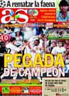 Portada diario AS del 25 de Agosto de 2009