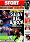 Portada diario Sport del 25 de Agosto de 2009