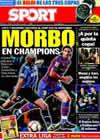 Portada diario Sport del 28 de Agosto de 2009
