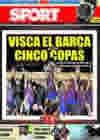 Portada diario Sport del 29 de Agosto de 2009