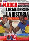 Portada diario Marca del 31 de Agosto de 2009