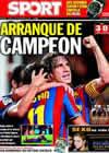 Portada diario Sport del 1 de Septiembre de 2009