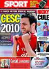 Portada diario Sport del 2 de Septiembre de 2009