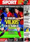 Portada diario Sport del 3 de Septiembre de 2009