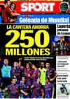 Portada diario Sport del 6 de Septiembre de 2009