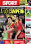 Portada diario Sport del 10 de Septiembre de 2009